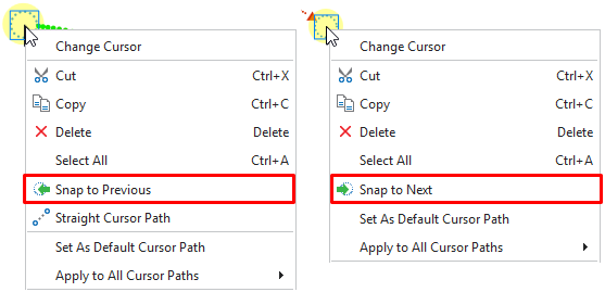 Continue Cursor Paths between Slides