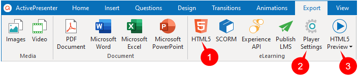 Export to HTML5