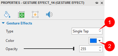 Change Effect Type and Color