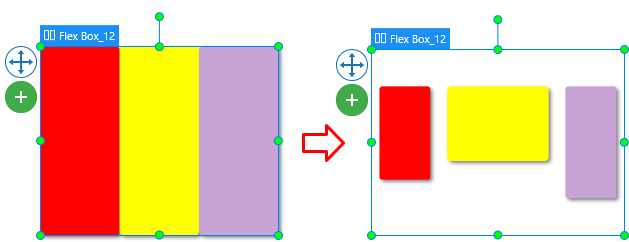 Flex layout allows aligning and distributing space within a container by expanding objects to fill the available space (growing) or shrinking them to prevent overflowing.