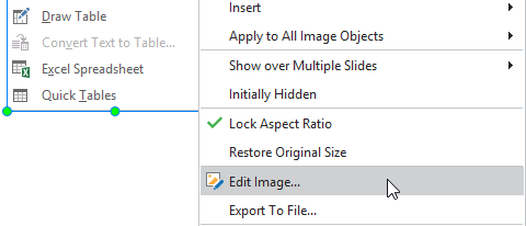 Whatever screenshots are saved as image objects or background images, it's possible to further edit them right in ActivePresenter.