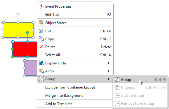 Group objects in ActivePresenter 8
