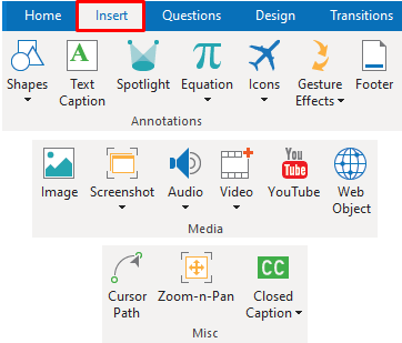 Annotation objects in ActivePresenter 8