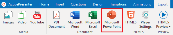 Export Projects to Microsoft PowerPoint