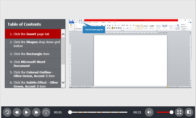 Slide names and slide descriptions are useful when you wish to export software simulations to HTML5 or document outputs.