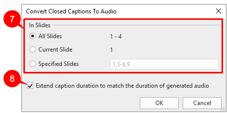 Use Batch Operations to Convert Closed Captions to Audio.