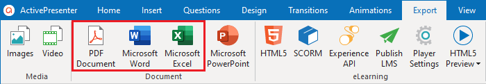 Export Projects to PDF-Word-Excel AP8.2