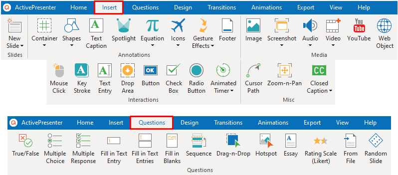 create eLearning courses with ActivePresenter