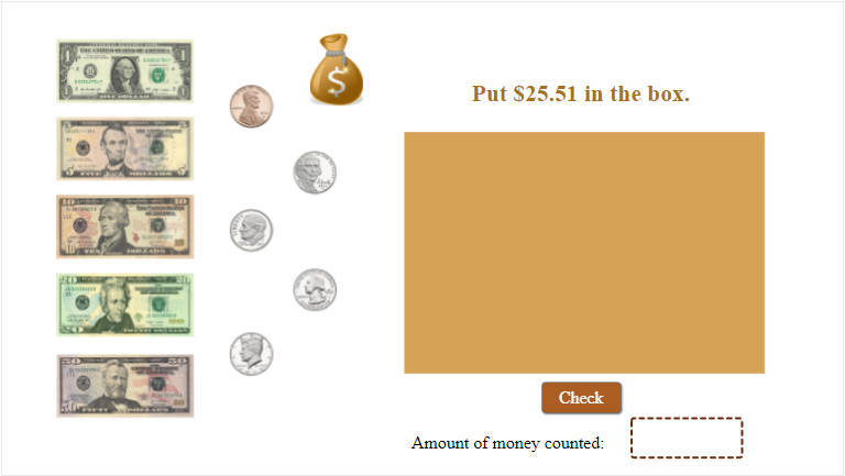 Create Counting Money Game Using Number Variables