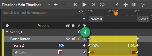 Create Two Timeline Labels