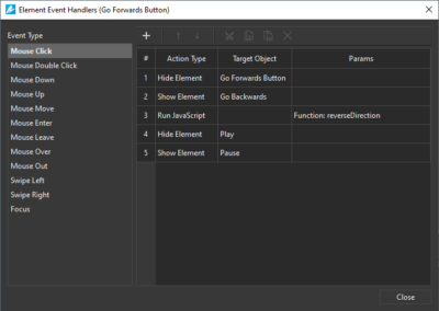 Events-Actions - Saola Animate 3.0
