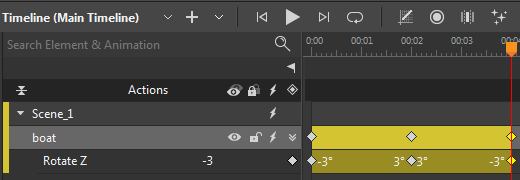 You can place the Playhead to another position and repeat the steps above to create a swaying animation.