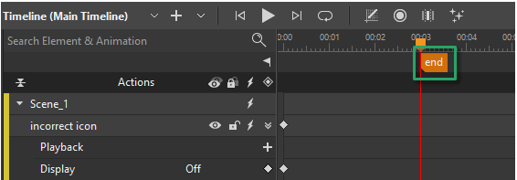 If the main timeline doesn't have any animations but you still want the scene to be shown for some time in the video, you can add a label to that main timeline.