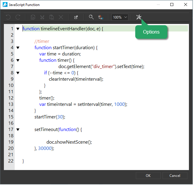 Create and Call JavaScript Functions in Saola Animate 3