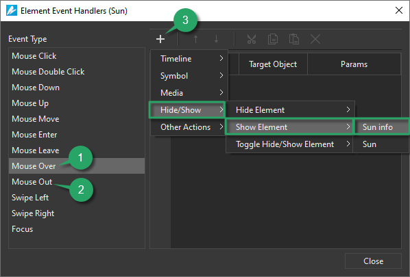 Use Events – Actions in Saola Animate 3