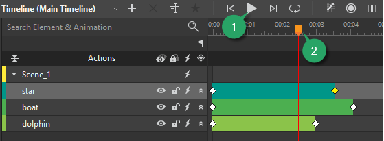 Preview in Timeline pane