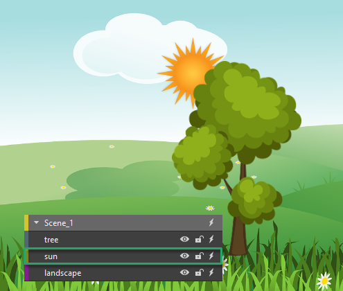 Reorder Elements in Saola Animate 3