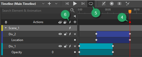 Loop animations using timeline trigger