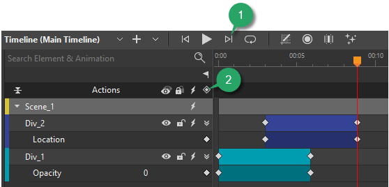 Set timeline trigger to the end of an animation