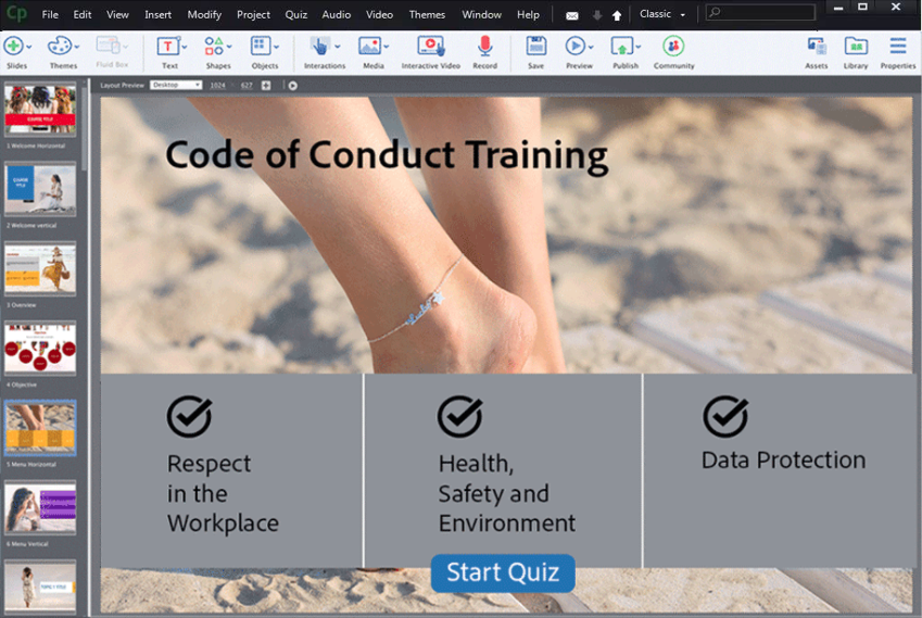 eLearning tool for Windows-Adobe Captivate