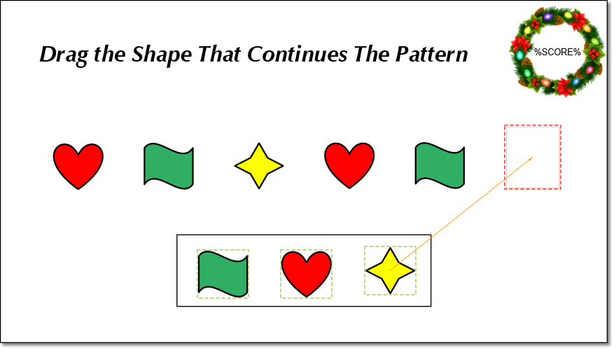 Create Shape Patterns Game Using Drop Area