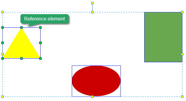 Resize and align elements, reference element.