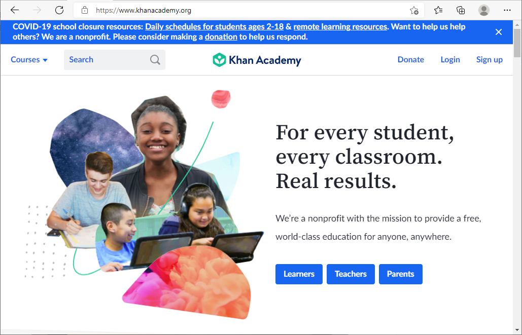 A Free Online Learning Website for All Ages