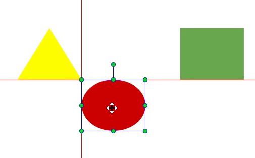 Resize and align elements, Align elements using cancas snapping.