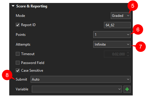 Text Entry properties