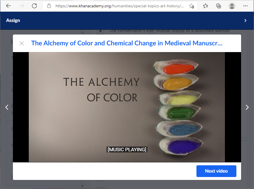 The website Khan Academy provides short lessons in the form of YouTube videos.