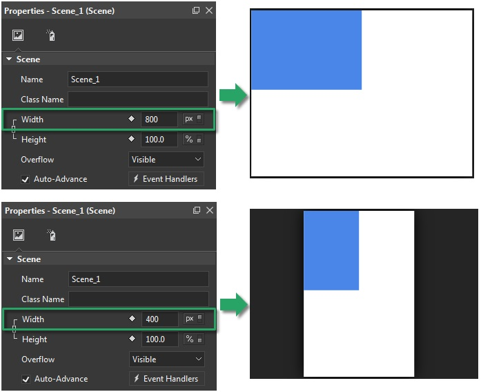 Scene with px to use Flexible Layout