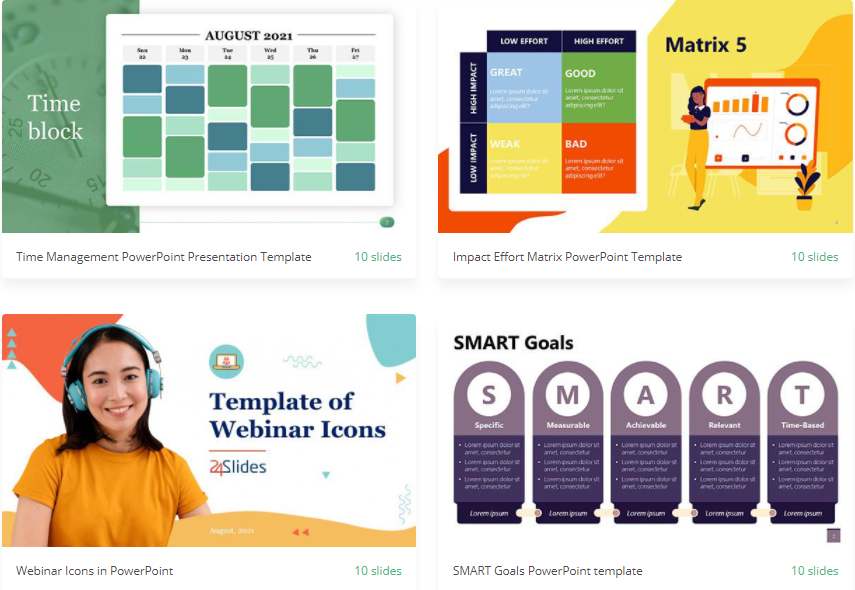 Free PowerPoint templates from 24Slides