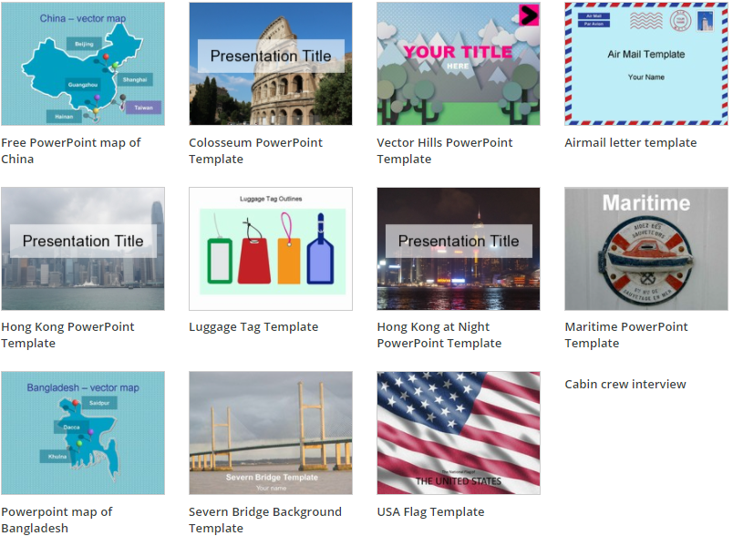 Free PowerPoint templates from Presentation Magazine